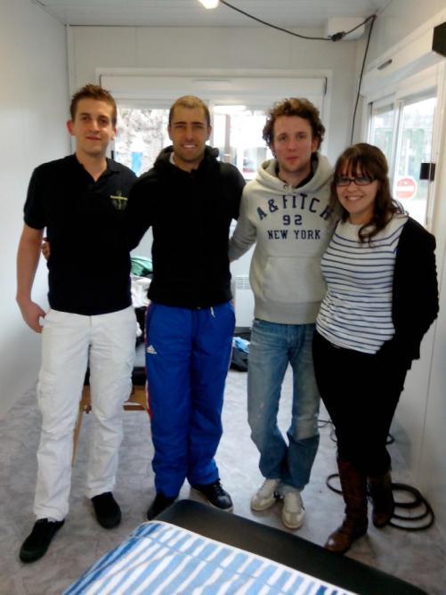 Equipe ostéo Eurolympiques 2013. F.Lefèvre, champion du monde de Kayak